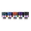 810 510 Thread Epoxy Resin Snake Skin Grid Wave SS Rainbow Wide Bore Drip Tip Mouthpiece Vape for TFV8 TFV12 Prince