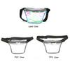 Unisex Laser Clear Rainbow Hologram Waist Bag Women Travel Fanny Pack Crossbody Shoulder Bags Storage With Belt Zipper Phone Case A41201