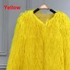 معطف الفرو الأصفر فو