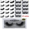 3D Mink Eyelashes Eye makeup Mink False lashes Soft Natural Thick Fake Eyelashes Extension Beauty Tools 3D False Eyelashe 17 styles