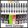 Rove Vape Cartridges 12 Flavors For Option Pyrex Glass Vape Pen 0.8ml Ceramic Coil Thick Oil Atomizer For 510 Preheat Battery DHL