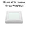 ساحة الأبيض الإسكان 18 + 6W الأبيض + الأزرق