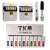 Newest TKO EXTRACTS vape empty Ceramic Cell Glass Atomizer TKO LOGO cartridges No Leak 0.8ml 1.0ml 20 flavors carts black tip