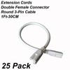 Accessories: 1Ft Extension Cords