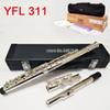 High quality Japan flute 311 16 hole E key closed hole Silver plating C Tune and E-Key Flute music professional With box Free shipping