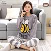 Pajamas Women Women Pyjamas Thick Flannel Cute Polyester Sheep Trousers Female Warm Winter Pajama Set Long Sleeve Full Two Piece