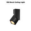 5 W Black Luz de teto