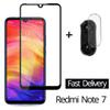 High Quality Custom 2-in-1 Camera Glass Redmi Note 7 Tempered Glass Screen Protector Xiaomi Glass Film