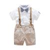 2019 Kids Clothes Baby Boys Children Toddler Shirt Braces 2Pcs Set Trousers Clothes Outfits Summer Infant Leisure Gentleman Suit