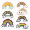 Rainbow and Clouds Enamel Pin Cartoon Rainbow Brooches Collection Fashion Metal Brooch Pins Badge Gifts for Women Men Children