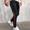 Brand New Mens Jeans Mens Designer Skinny Ripped Yellow Red Stripes Pants Mens Stretch Slim Biker Jeans