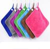 Coral fleece rag double-sided thick towel absorbent lint kitchen cleaning towel 30*30 edging Towel factory outlet