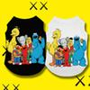 Cartoon Pet Dog Clothes Sesame Street KAWS Summer Cotton Puppy T Shirt Clothing Dogs Chihuahua French Bulldog Shirt Vest Cat Costume Coat