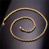 Banhado a ouro 18k - 20 polegadas * 2 mm