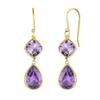 TBJ,natural gemstone africa amethyst hook earrings 925 sterling silver yellow color long pattern fashion fine jewelry for woman