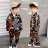 2019 Spring kids designer clothes boys Clothing Sets boys tracksuit Fashion jacket coat+ trousers kids sweat suit Kids Outfits A3337