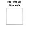 595 * 595 mm gümüş 48 W