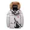 Mascube Canada Jacket Down Jacket Men Thick Warm 90% White Duck Down Hooded Natural Fur Collar Man Waterproof Male