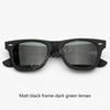 901S Mat siyah kare yeşil lensler