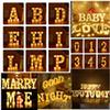 Letter Alphabet LED Light Marquee Sign Light Indoor Wall Hanging Night Lamp for Wedding Birthday Party Decor LED Light