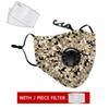 1 máscara de camuflaje + 2 Filtro