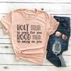 Funny Christian Slogan Tee Holy Enough to Pray for you T-Shirt Graphic Vintage Red Clothing quote Jesus lover girl Tops t shirts