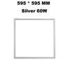 595 * 595 mm gümüş 60 W