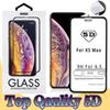 Top Quality 5D Curved Black Tempered Glass for iPhoneXS Max 8 Plus 7 6S Full Cover Screen Protector