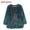 معطف الفرو الأخضر الداكن
