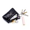 Ladies Real Leather Wallets Coin Pouch Girl's Cute Coin Purse Snake Pattern Women Genuine Leather Keychain Change Purse Bag