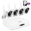 Hodely 4CH 1080P NVR Wifi Set 1080P 3.6mm 36-LED Waterproof IP Camera US Plug 1TB HDD
