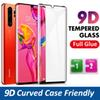 Case Friendly 3D Curved Tempered Glass For Samsung Galaxy S8 S9 S10 5G Plus Note 8 9 S7 Edge Huawei P30 Pro