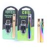 Rainbow Color Whole Gold Preheat Function 510 Thread Vape Pen Battery Real 350mah Touch Variable Voltage BUD Oil Vaporizer Pen Batteries