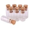 Size 11*22*6.5mm 1ml Mini Glass Wishing Bottles Tiny Jars Vials With Cork Stopper 100pcs