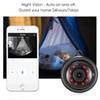 WIFI Wireless Camera Black 360 Panorama 720P Cloud Storage Smart Home Security WiFi IP 1.8mm 3.6mm Lens Camera Hot Sell