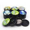 Herb Grinder 50mm 6 pictures 4 layers Tobacco Grinder Smoking Metal Grinders Dry Herb Vaporizer CNC Teeth Filter