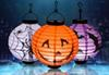 Halloween pumpkin lantern, luminous paper lantern, hand lantern, Halloween venue, props, Halloween lighting, 4 colors 66