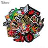 50pcs  lot Embroidery cloth patch hot iron on patches for clothing Badge Fabric Transfers Applique Stickers For Clothes Jeans