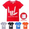 100% Cotton Kids T-shirts 5 Colors Share the Love Printed 4-14y Kids Boys T Shirt Tees kids designer clothes girls boys SS65
