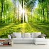 Photo Wallpaper 3D Forest Sunshine Nature Landscape Mural Living Room Bedroom TV Sofa Backdrop Wall Covering Murales De Pared 3D