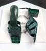 Tacones verdes 6.5 cm