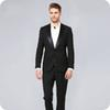 Black Groom Suits for Men Wedding Tuxedo Groomsmen Outfit Formal Costume Homme Simple Breasted trajes de hombre 2Piece(Coat+Black Pants)