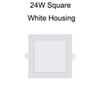 24W Plaza de la carcasa Blanco
