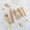 5PCS Luxury Design Wedding Supplies Creative vintage ins pearl hair clip simple duck bill clip