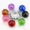 2018 30mm Diamond Crystal Glass Door Knobs Drawer Cabinet Furniture Handle Knob Screw Furniture Accessories 8 colors