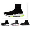2019 Designer Shoes Speed Trainer Oreo Triple Black Green Flat Luxury Fashion Socks Boot Designer Men Women Sneakers With Box Dust Bag