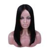 Straight Bob Wigs Hair Short Bleached Knots Pre Plucked Hairline With Baby Hair Natural Color Full Lace Wig 8 10 12 inch