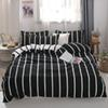 MENGZIQIAN The New bedding set NORDIC, Fashion High Quality, Multiple sizes, stripe, quilt, sheet, Pillowcase 3pcs 4pcs