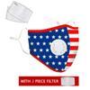 1 máscara Flag + 2 Filtro