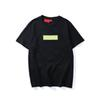 Top Quality Fashion brand New Color box logo Crew Neck T-shirt Summer New Men Women Tee Hip Hop Casual T-shirt